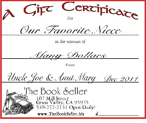 The Book Seller's Gift Certificate | The Book Seller